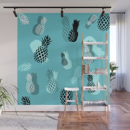 Pineapple Pattern Wall Mural