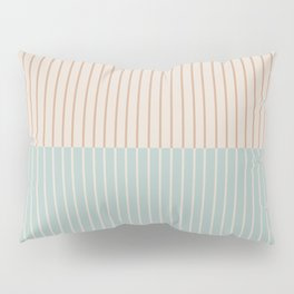 Color Block Lines XX Vintage Seafoam Pillow Sham