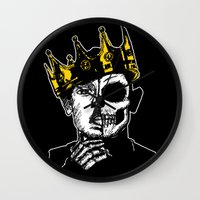 kendrick lamar Wall Clocks featuring King Kendrick by zombieCraig by zombieCraig