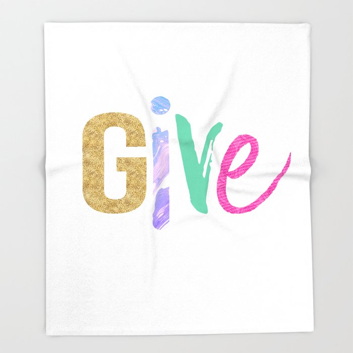 Give Throw Blanket