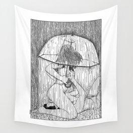 asc 514 - La fille qui aimait la pluie (Rider on the storm) Wall Tapestry