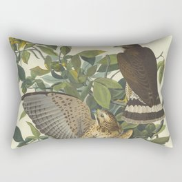 Broad-winged Hawk by Audubon Rectangular Pillow