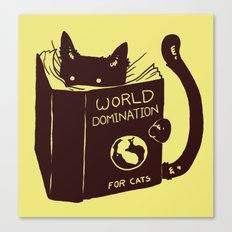World Domination (for cats) Canvas Print