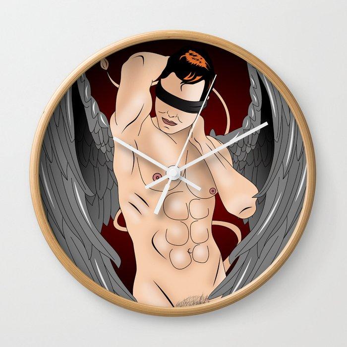 sexy angel Wall Clock