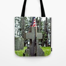 Cross and flag Tote Bag