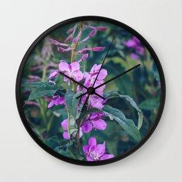 Alaska Flowers Wall Clock