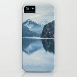Alpsee lake,Bavarian alps iPhone Case