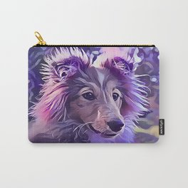 Shetland Sheepdog Puppy Carry-All Pouch
