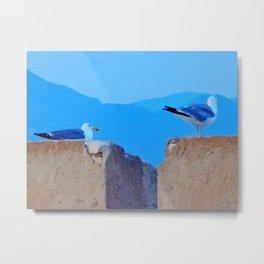 Once upon a time 2 seagulls Metal Print