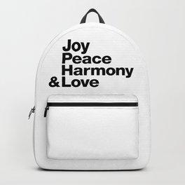 Joy, Peace, Harmony & Love Backpack