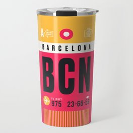 Luggage Tag A - BCN Barcelona Spain Travel Mug