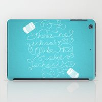 old school iPad Cases featuring Old School by Heather Doyle