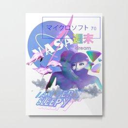 Vaporwave Aesthetics Metal Print