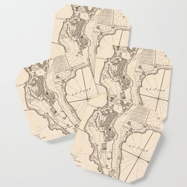 Vintage Map of Monaco France (1764) Coaster