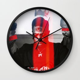 """WOKEN P A C"" Wall Clock"