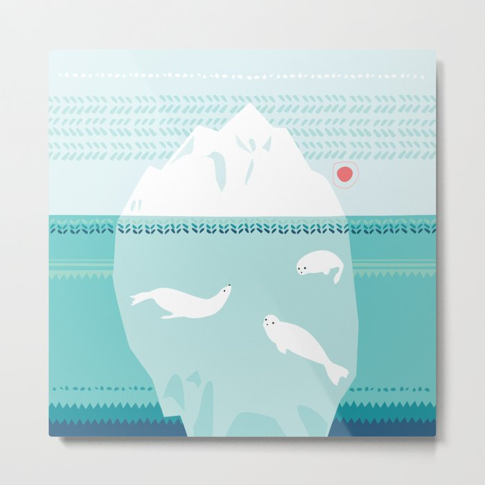 The Ice Lovers Metal Print