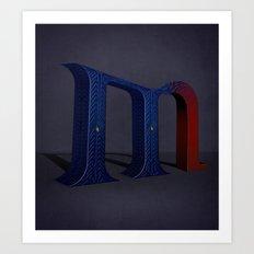 Superbet 'M' Art Print
