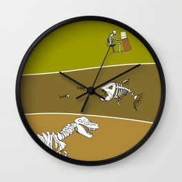 Fossil Layers Wall Clock