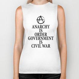 Anarchy quote Biker Tank