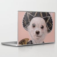 mexican Laptop & iPad Skins featuring Mexican Chihuahua by Rachel Waterman