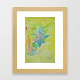 nuclear chernobyl watercolor Framed Art Print