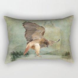 Feathered Fury Above Rectangular Pillow