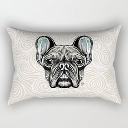 French Bulldog Smilling Rectangular Pillow