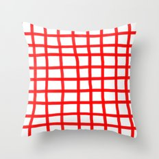 RED GINGHAM Throw Pillow