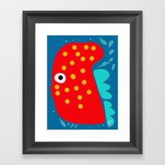 Red Fish illustration for kids Framed Art Print