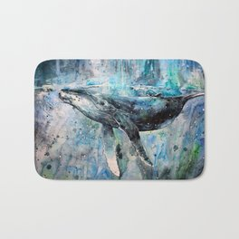Whale Art Bath Mat