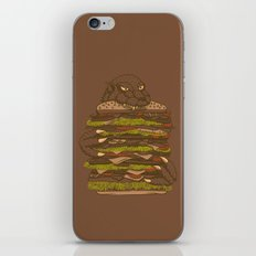 Godzilla vs Hamburger iPhone Skin