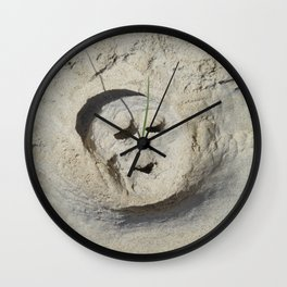 Face without the masks Wall Clock