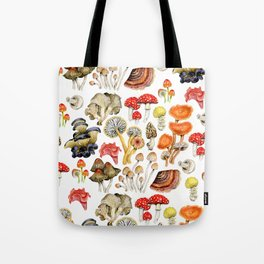 Mushroom Patterns Tote Bag