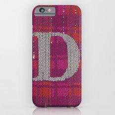 Winter clothes. Letter D. iPhone 6s Slim Case