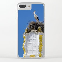Baroque stork's nest Clear iPhone Case