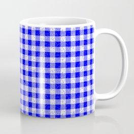 Gingham Blue and White Pattern Coffee Mug