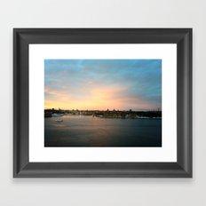 Stockholm Sunset Framed Art Print