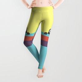 Yummy Colorful Stripes Cute Cartoon Character Leggings