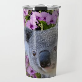 Koala and Orchids Travel Mug