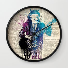 Higway to hell - on dictionary page Wall Clock