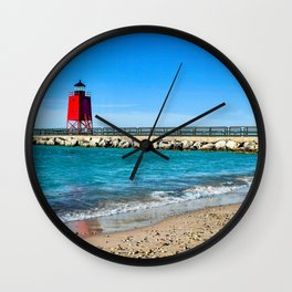 """Charlevoix Lighthouse"" Wall Clock"