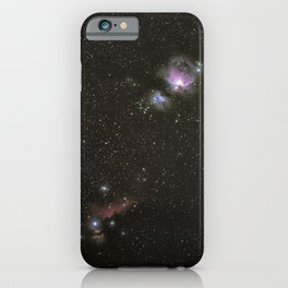 Orion horsehead running man and flame nebula iPhone Case