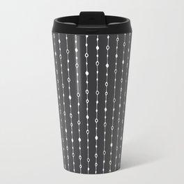 Lines, Dots and Circles - Hand Drawn Illustration, Abstract Pattern Travel Mug