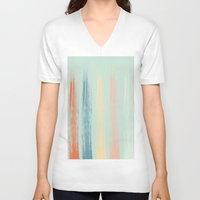 the strokes V-neck T-shirts featuring Paint Strokes by AngelicaRoesler