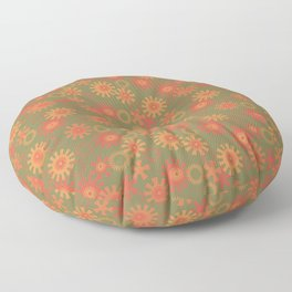 abstract pattern with suns Floor Pillow