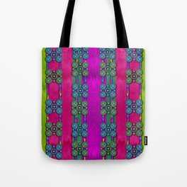 flowers in a rainbow liana forest festive Tote Bag