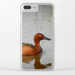 Solo Cinnamon Teal Clear iPhone Case