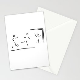 soccer shot at goal football Stationery Cards