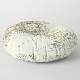 Vintage Map of the South Of The United States Of America Floor Pillow