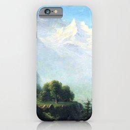 Staubbach Falls Near Lauterbrunnen Switzerland By Albert Bierstadt   Reproduction Painting iPhone Case